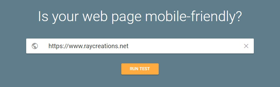 Google mobile friendly test box