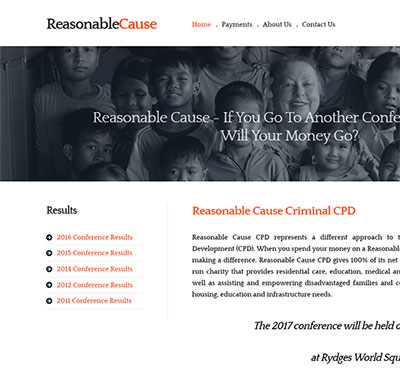 Reasonable NGO web design