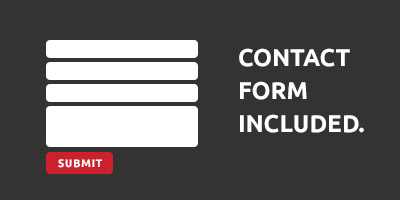 contact forms are inlcluded