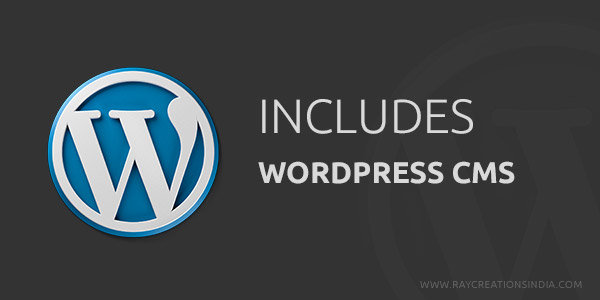 your site built with wordpress cms