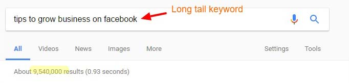 long-tail-keyword-smaller-search-results