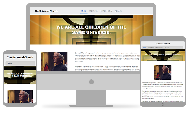 100% Mobile Friendly Ministry Websites