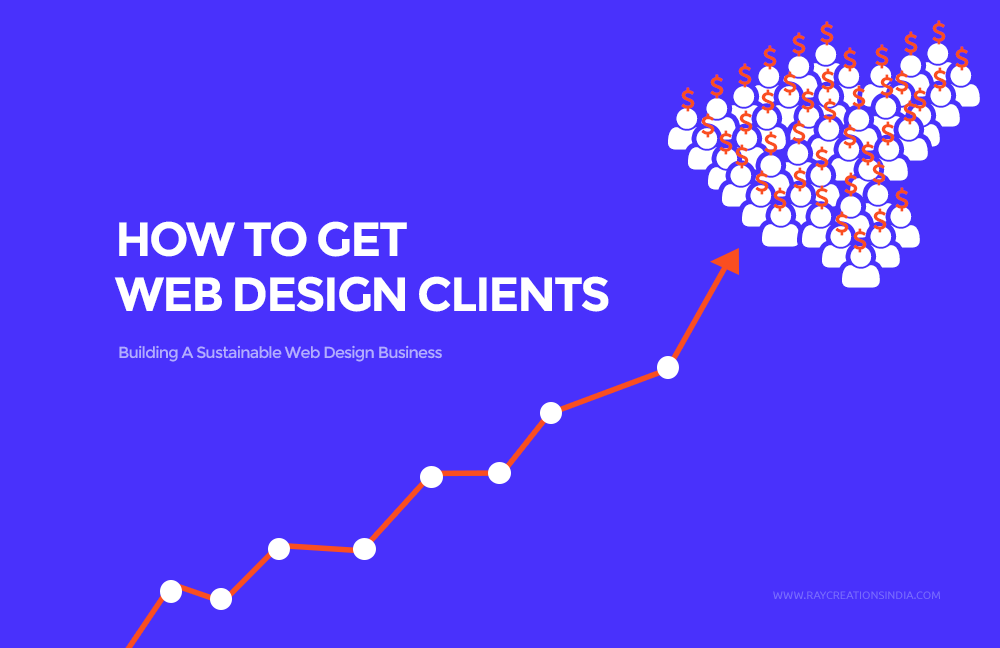 how to get web design clients