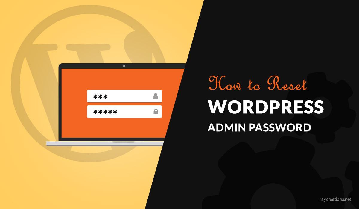 WordPress password reset banner